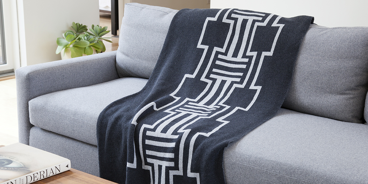 Illusion Charcoal/Milk-  <a href='https://www.in2green.com/collections/stacy-garcia-collection/products/eco-illusions-throw' style='text-decoration: underline;'>Where to Buy</a>