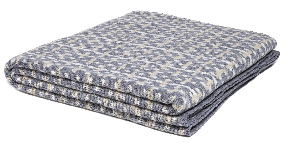 Retro Smoke/Milk/Flax/Aluminum-  <a href='https://www.in2green.com/collections/stacy-garcia-collection/products/eco-retro-throw' style='text-decoration: underline;'>Where to Buy</a>