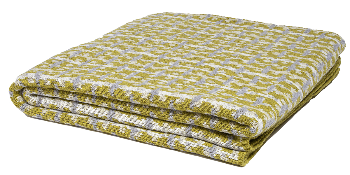 Retro Moss/Milk/Flax/Aluminum-  <a href='https://www.in2green.com/collections/stacy-garcia-collection/products/eco-retro-throw' style='text-decoration: underline;'>Where to Buy</a>