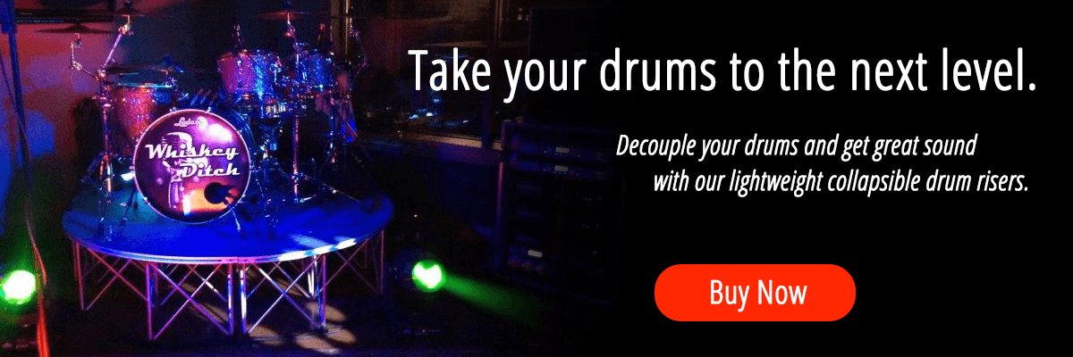 Lightweight Collapsible Drum Risers
