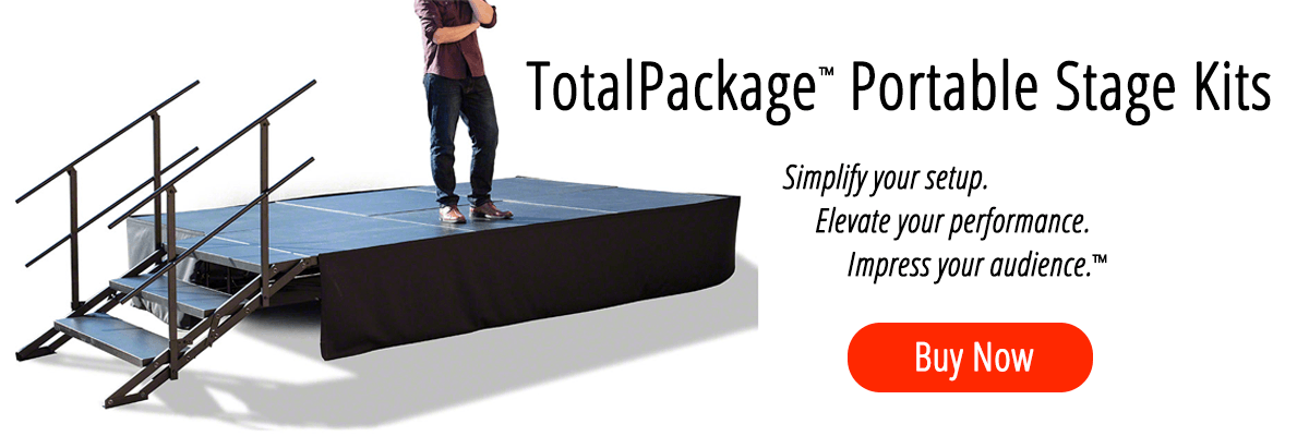 """TotalPackageâ""""¢ Portable Stage Kits"""