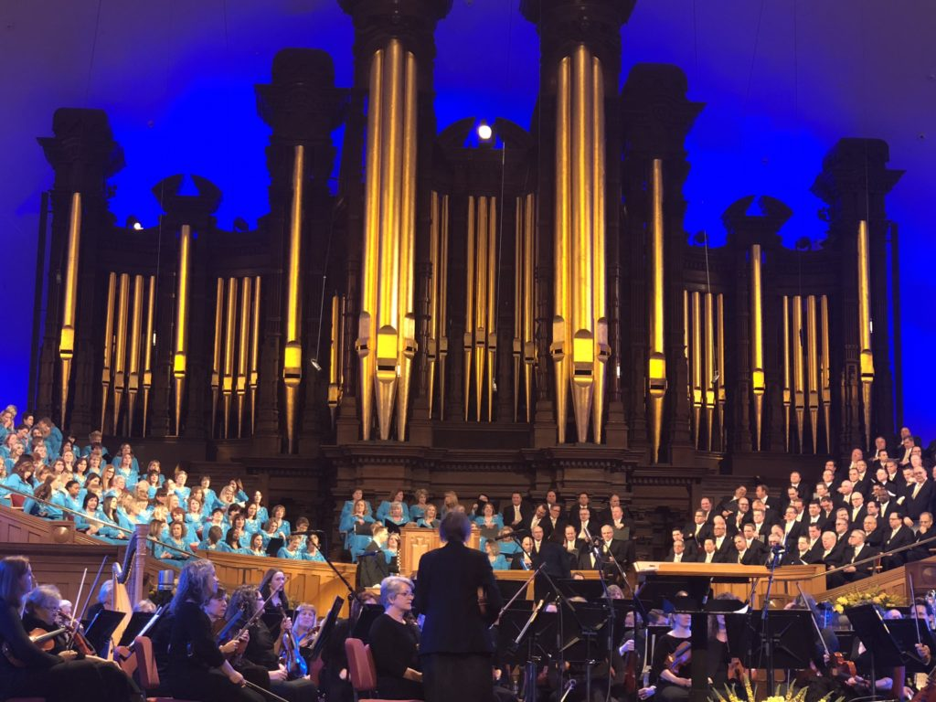 Temple Square choir performance