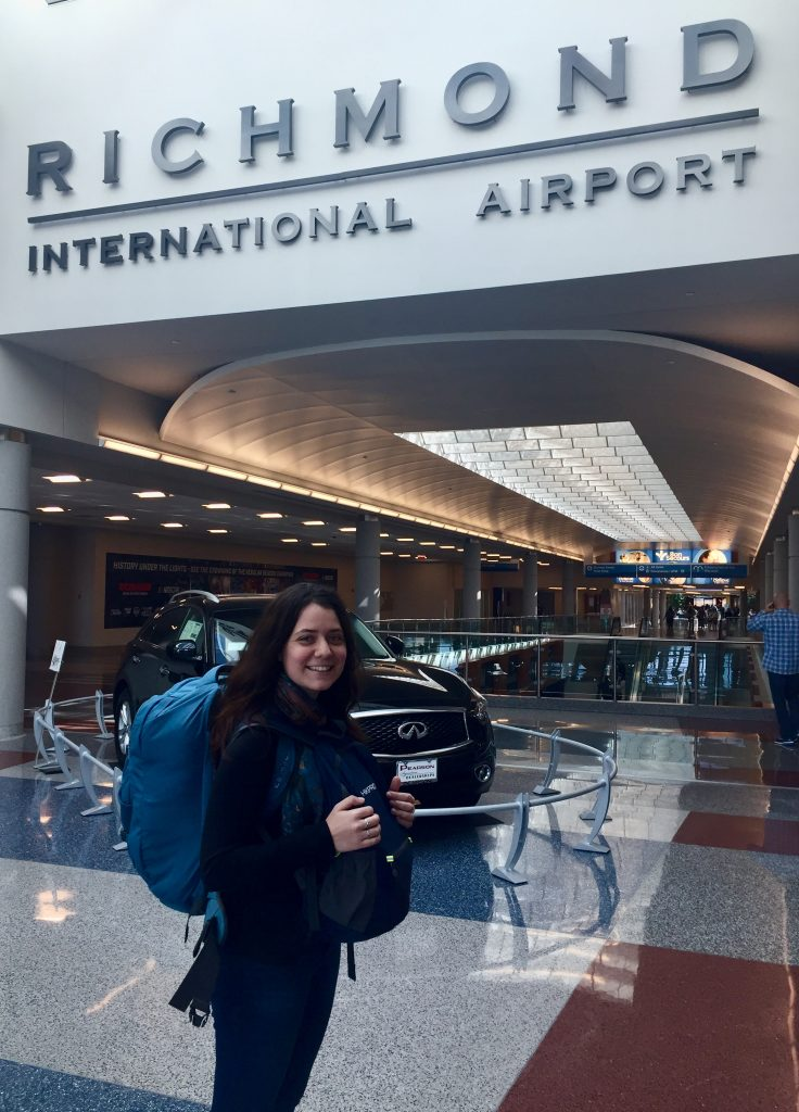 Claire in Richmond International Airport