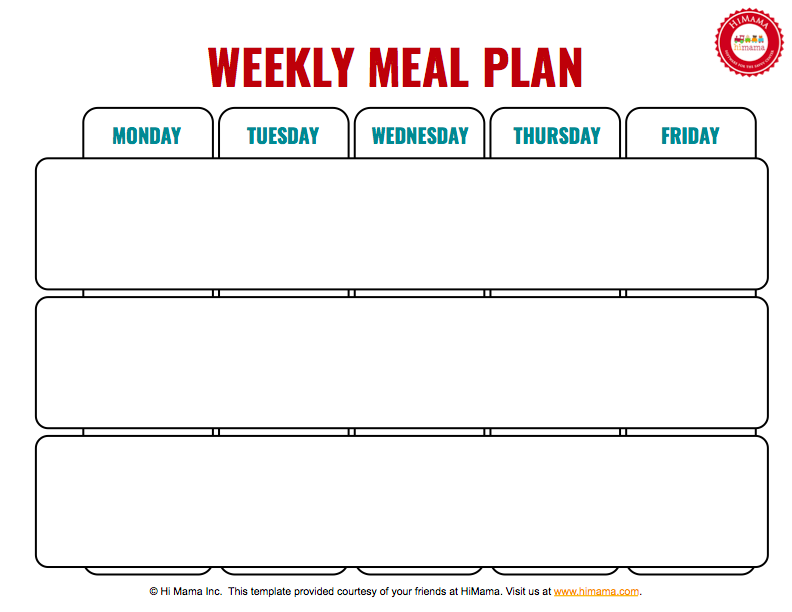 graphic regarding Free Printable Menu Templates called Daycare Menu Template: Weekly and Month to month HiMama