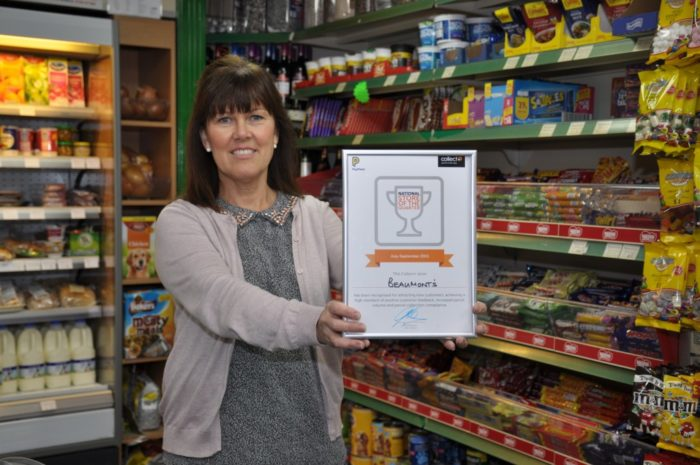 CollectPlus store of the Quarter winner Pauline Davey.