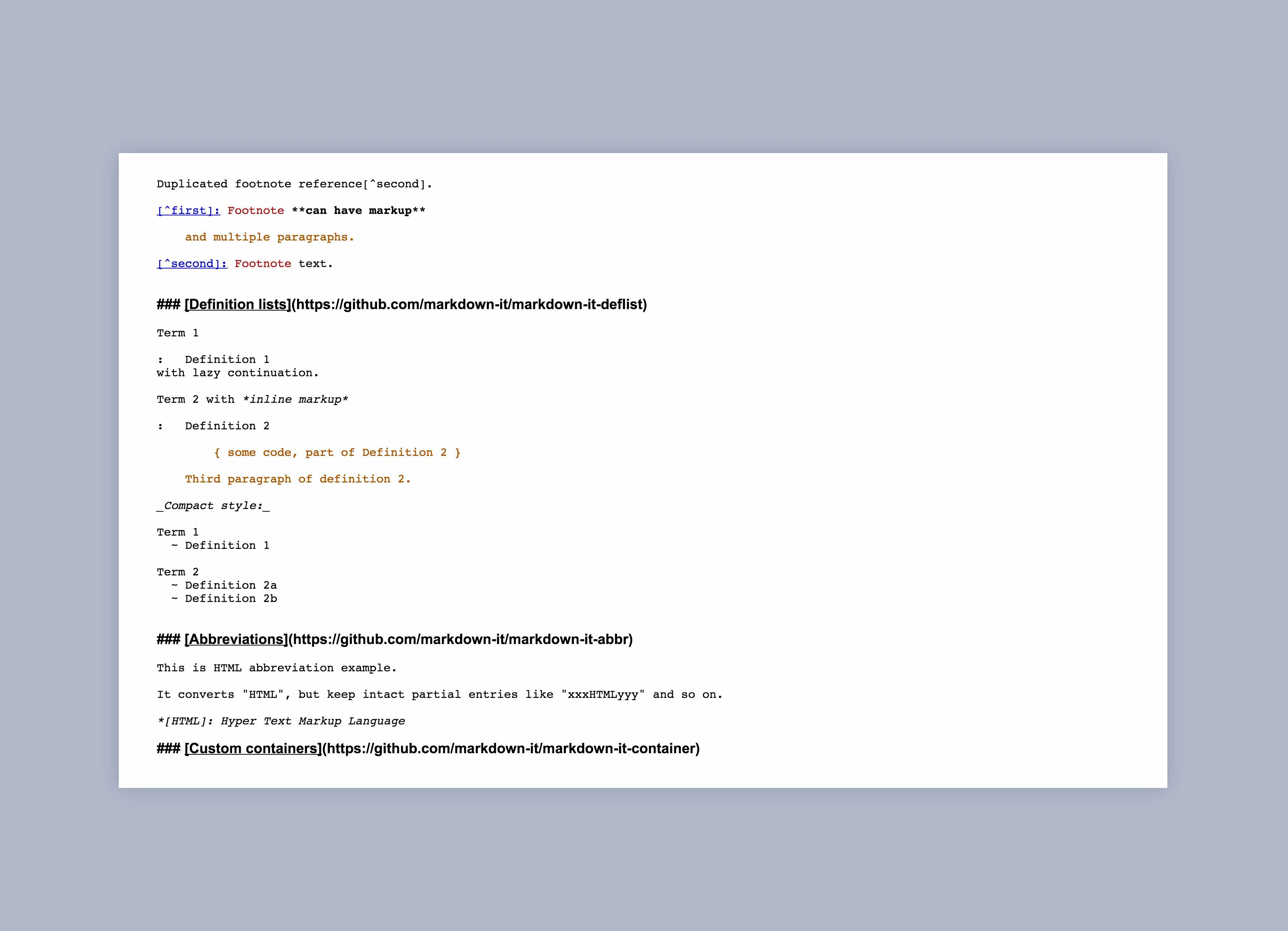 Single pane Markdown editor with inline parsing and color coding
