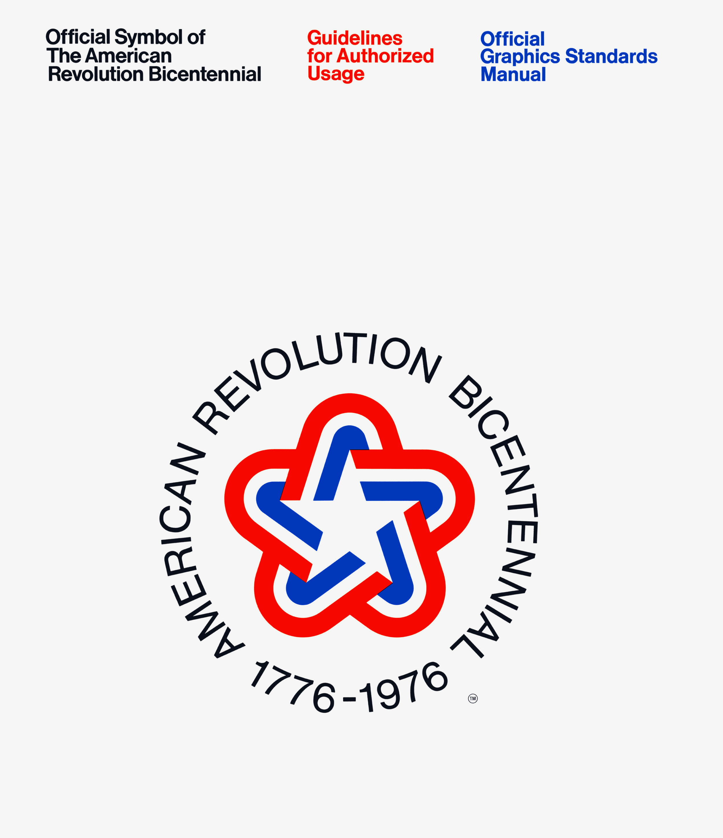 American Revolution Bicentennial Standards Manual Limited Edition