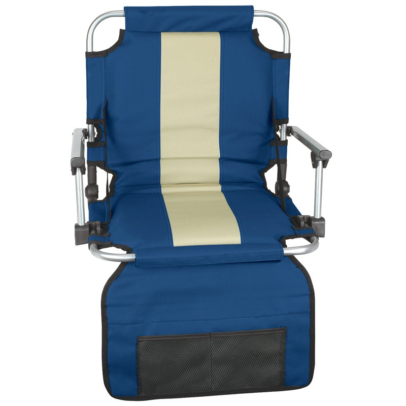 EZ Stadium Seat With Arms - Blue/ Tan Stripe at Sears.com