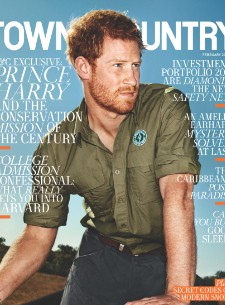 Prince Harry Brings His Forearms to Town and Country