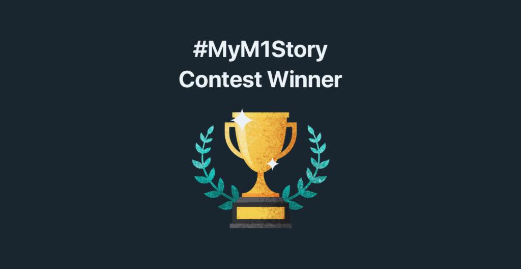 My M1 Story Contest winner badge
