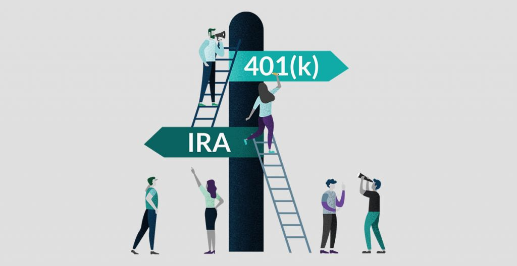 Explain the differences between an IRA vs. Roth IRA and an IRA vs. 401k