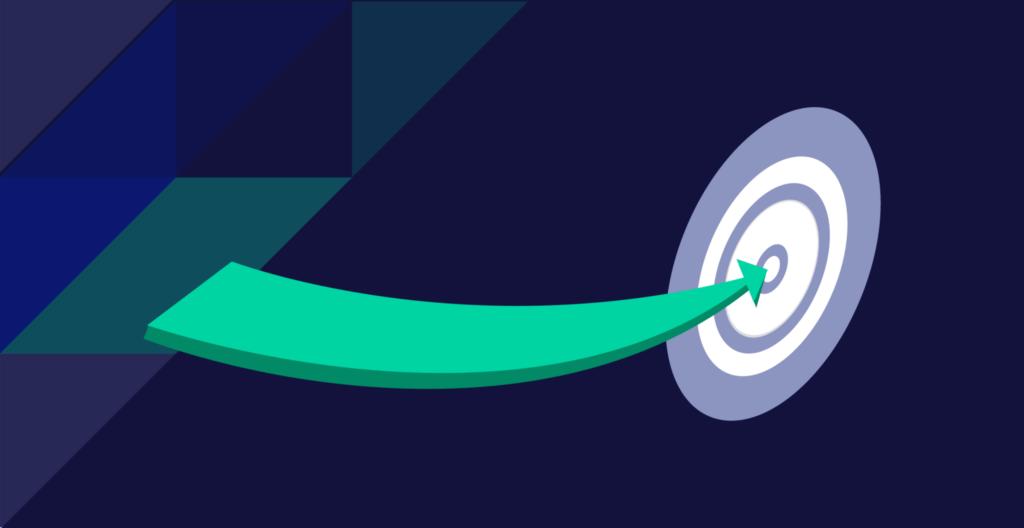 arrow pointing towards a bullseye