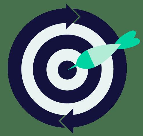 graphic of dart in a bulls eye