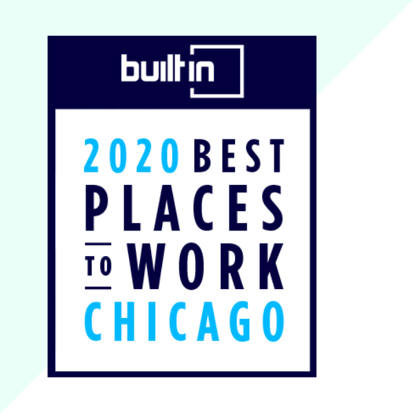 Built in: 2020 Best Places to Work Chicago badge