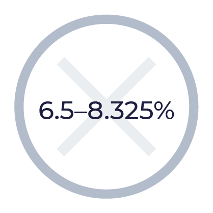 No, 6.5-8.325%