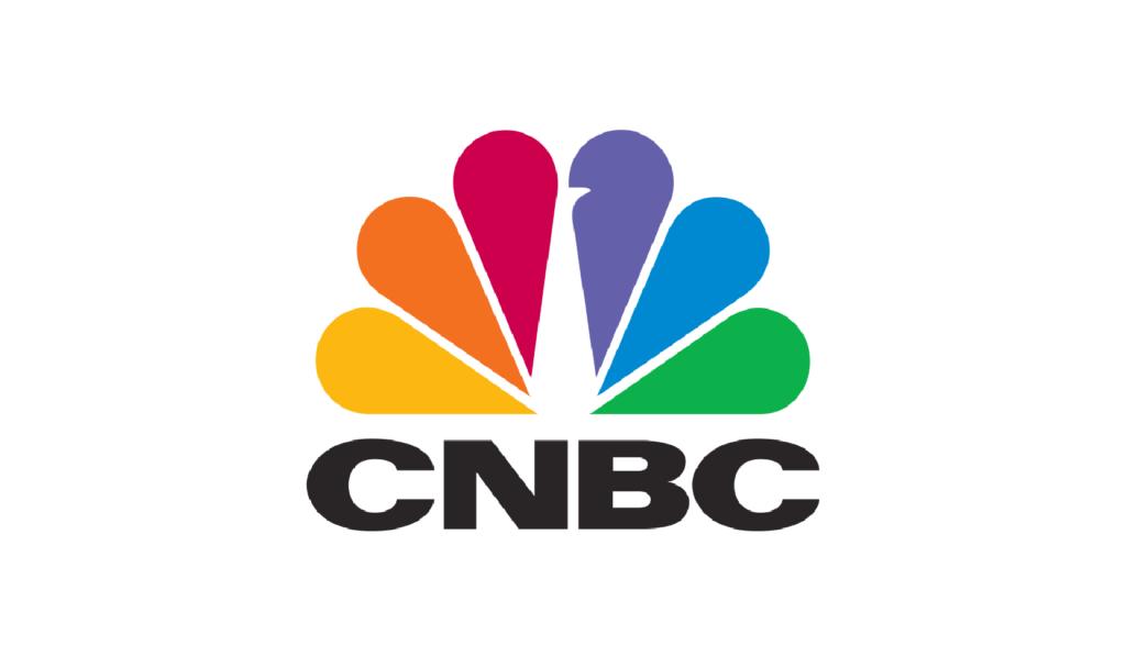 CNBC logo with NBC peacock
