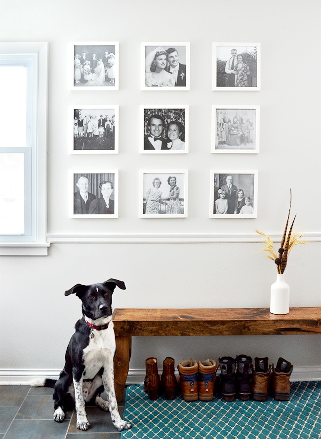 How To Create A Family Photo Gallery Wall Inspiration Blog