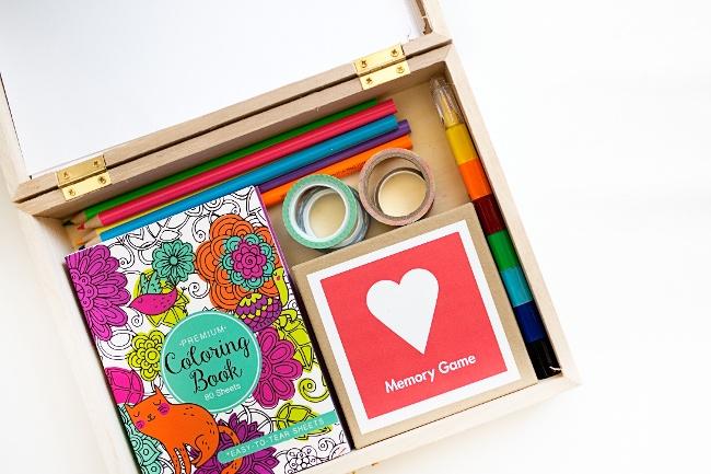 DIY Travel Activity Box for Kids