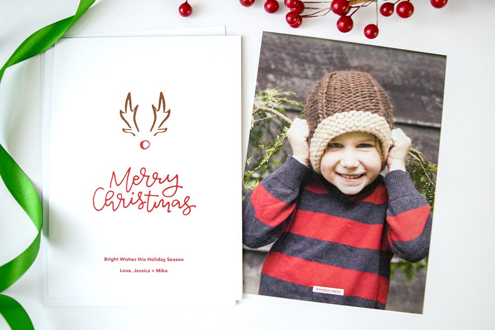 "New ""A Red-Nosed Christmas"" Designer Holiday Photo Card by Rachel Joy"