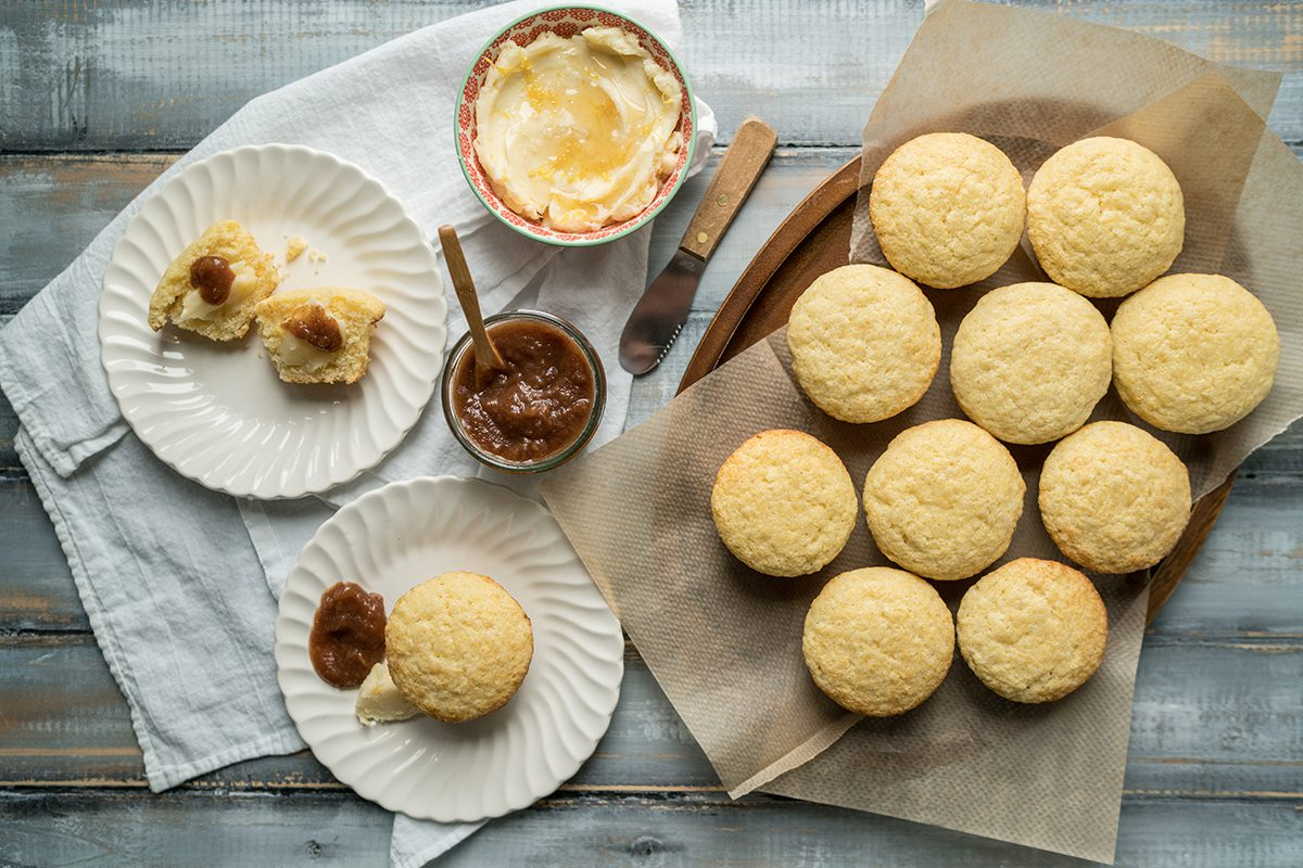 Corn Muffins with Lemon Honey Butter