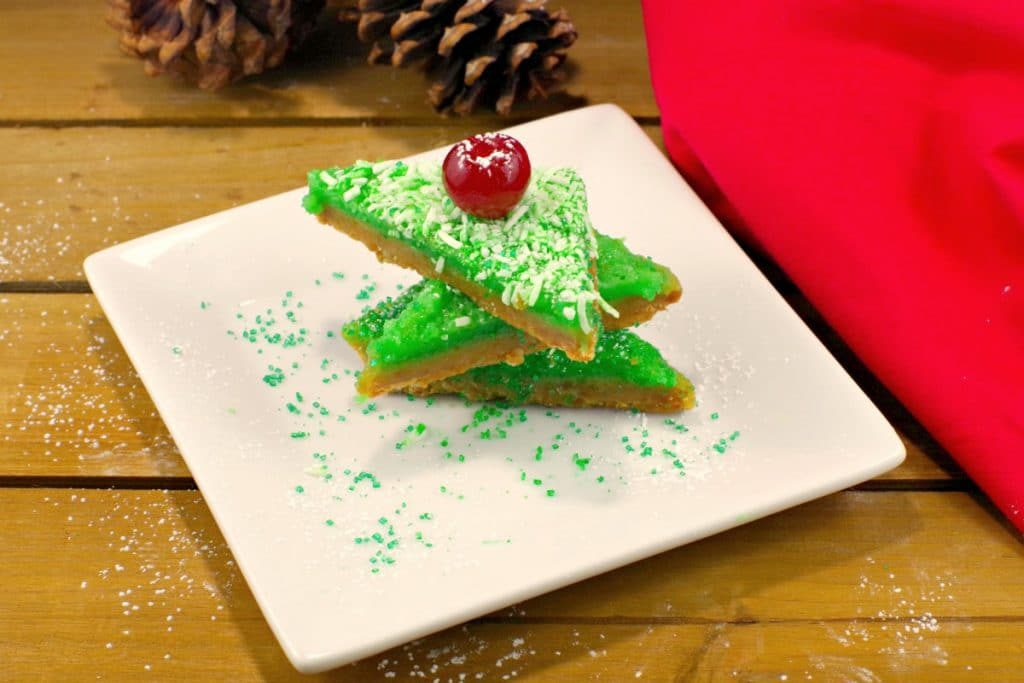 Holiday Lime & Gingerbread Squares