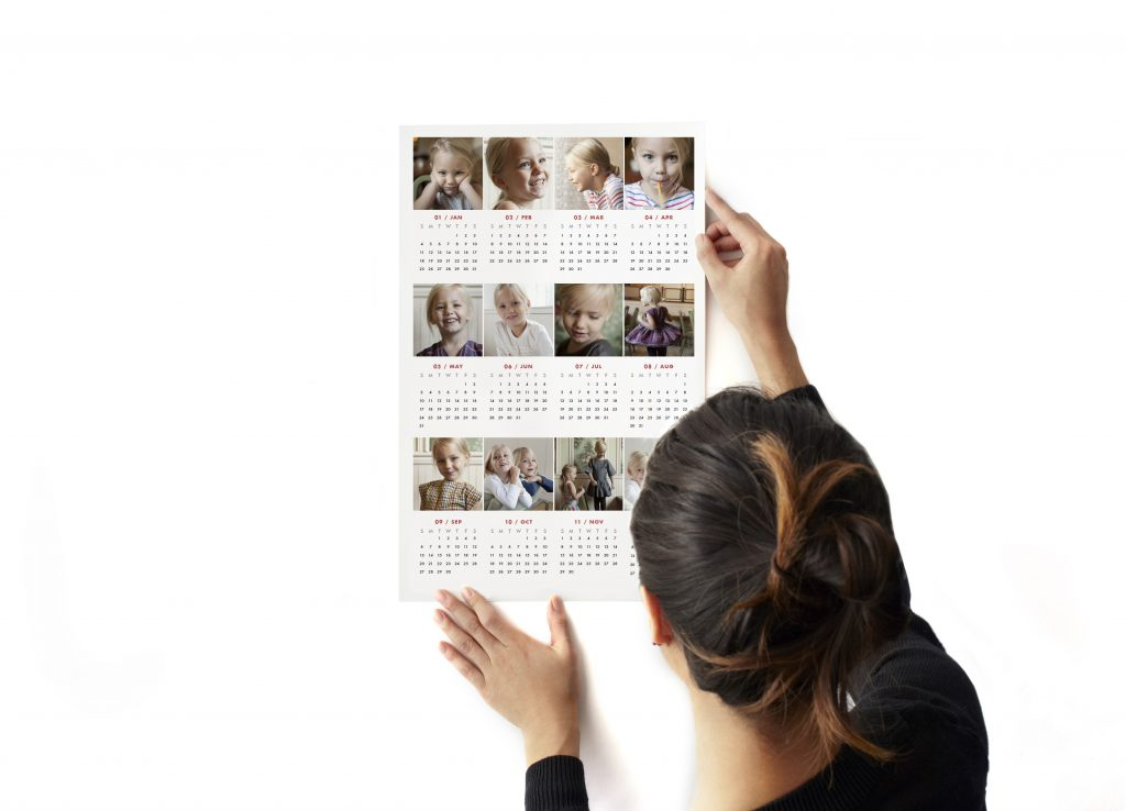 Pinhole Press Custom 12 Photo Wall Decal Calendar