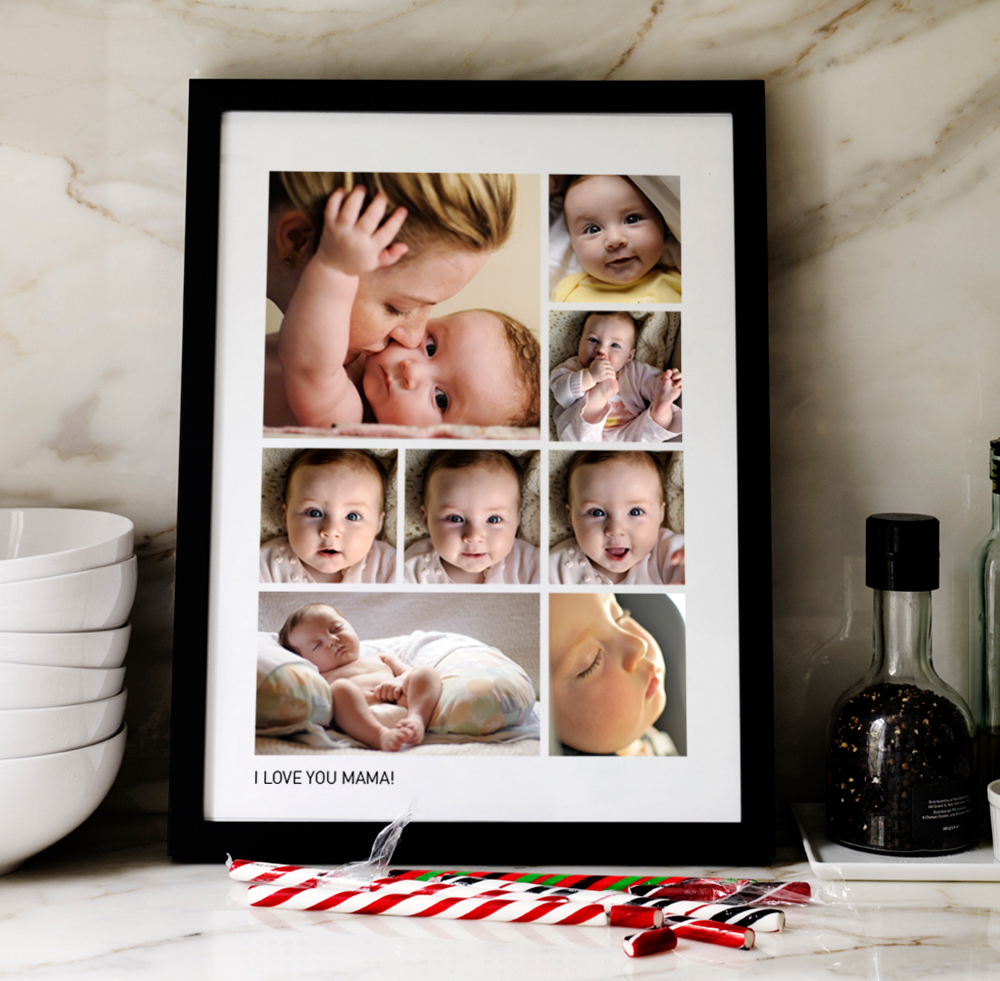 Pinhole Press Framed Photograph with Custom Text