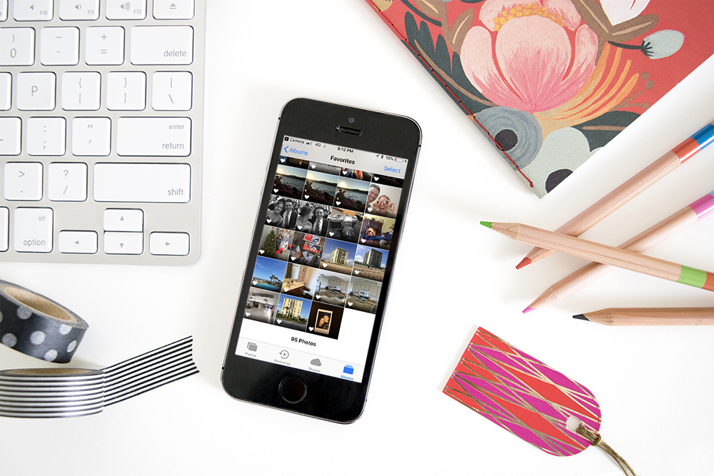 Tips for organizing photos on your phone - heart your favorites