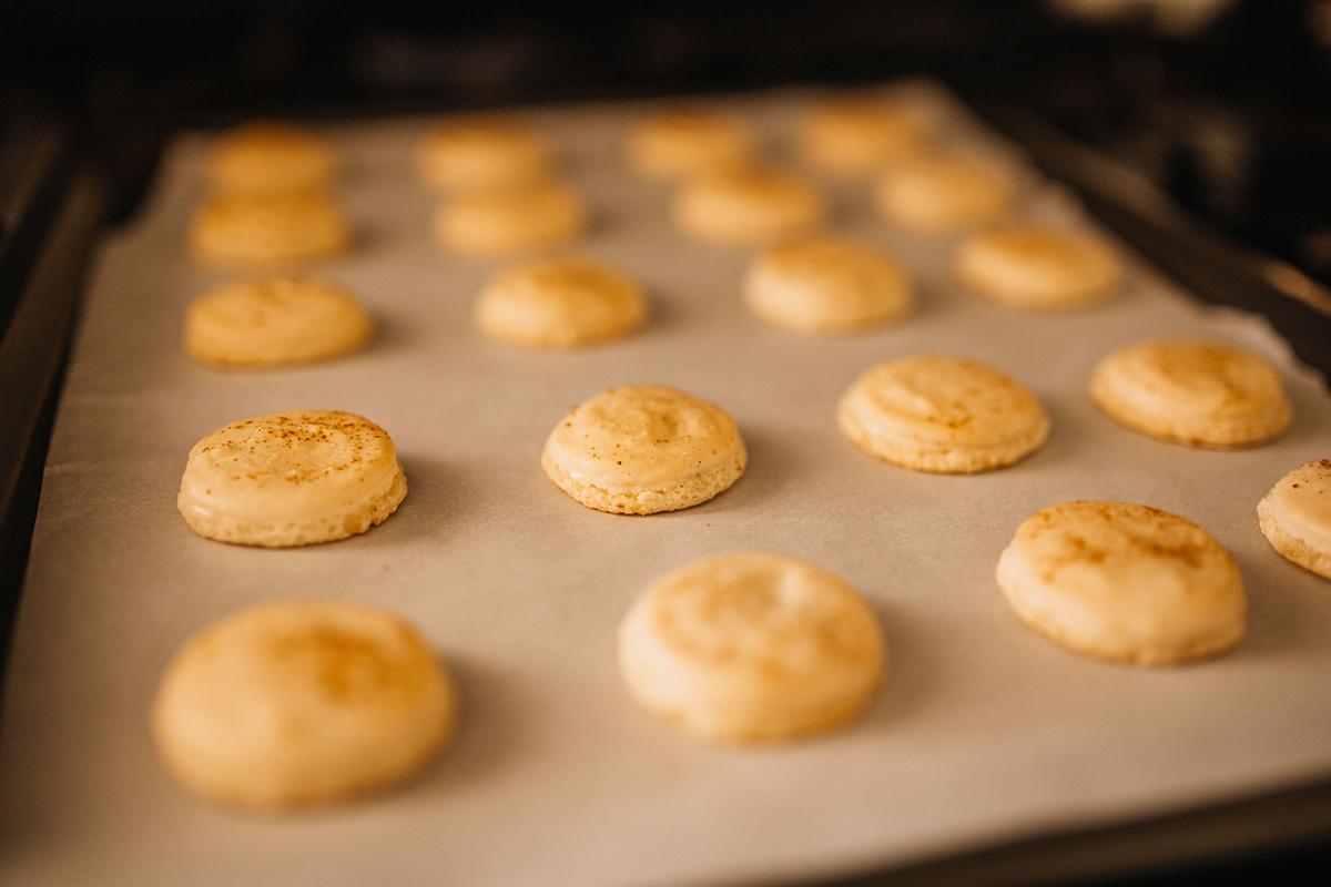 Chai Buttercream Macarons Baking