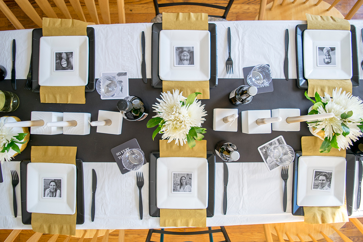 Modern Friendsgiving Table Decor