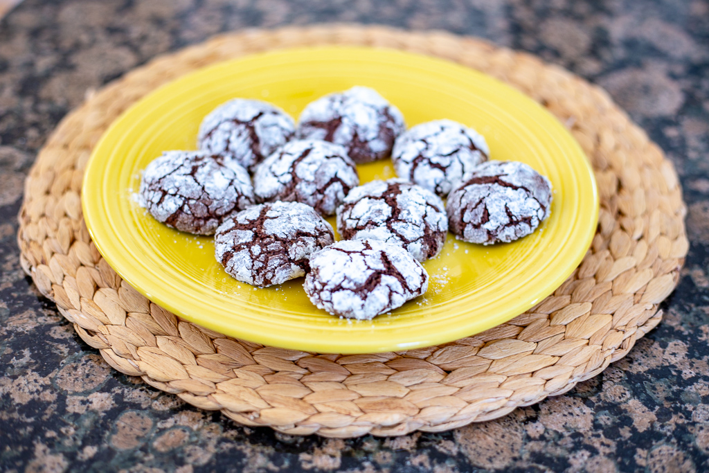 Gluten Free Chocolate Crinkle Cut Cookies