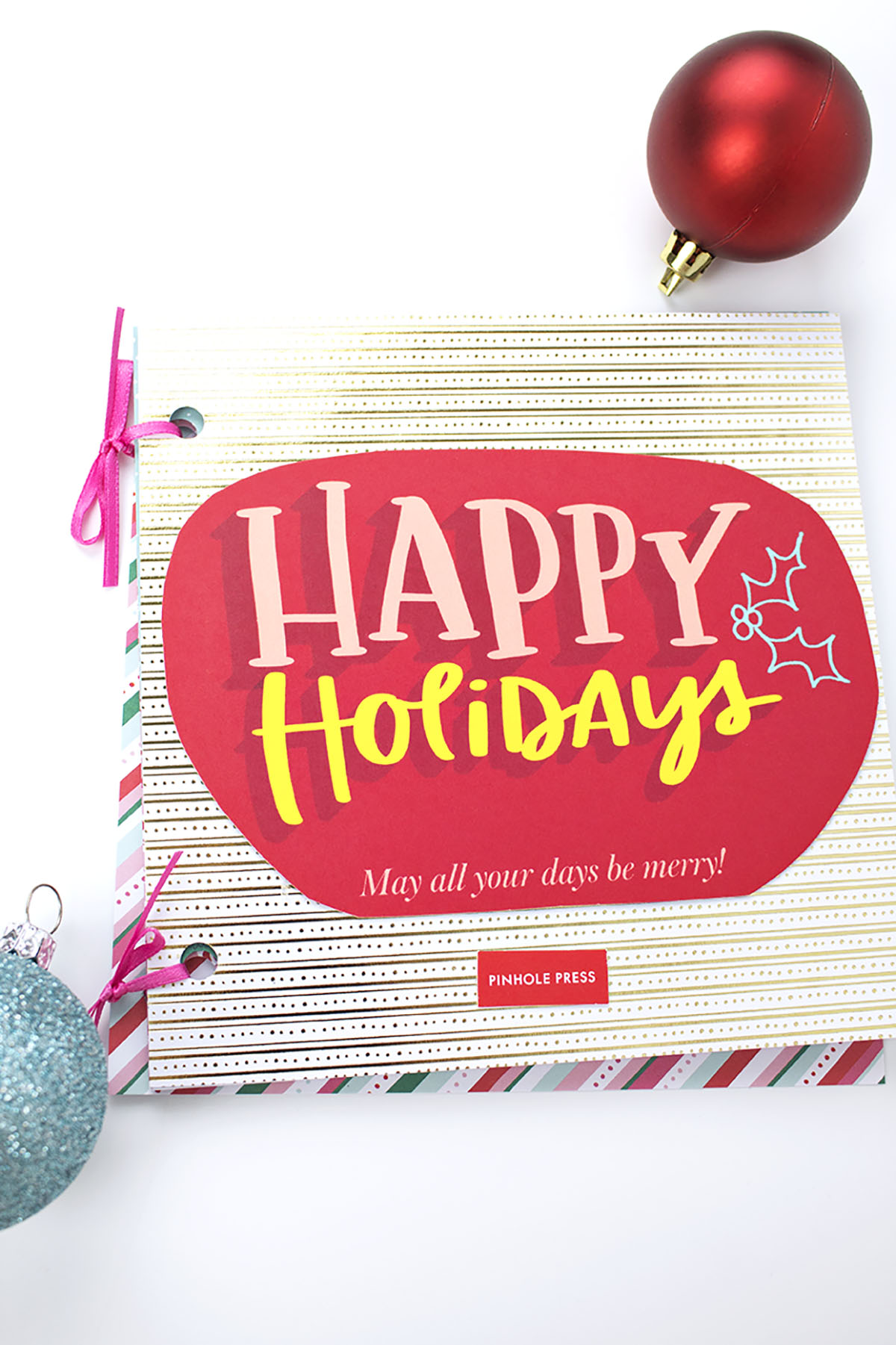 Holiday Card Scrapbook Cover