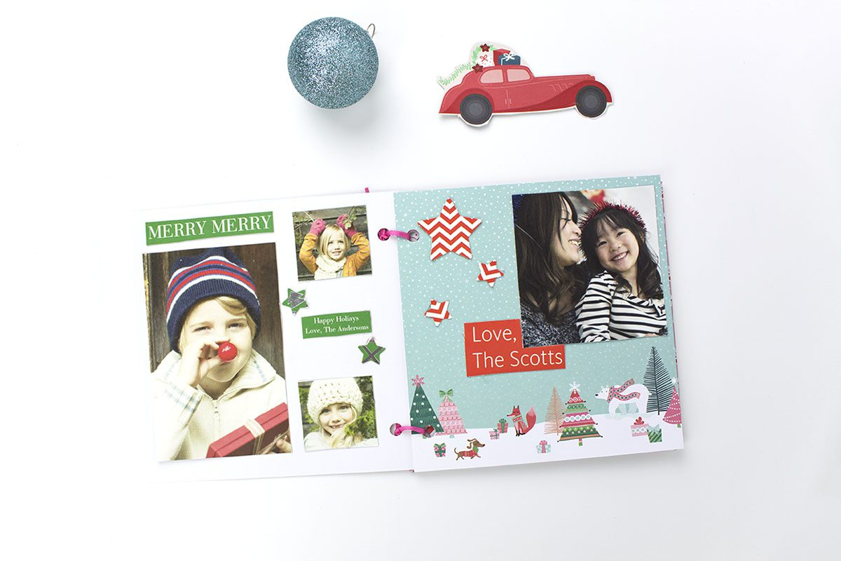 DIY Holiday Cards Scrapbook