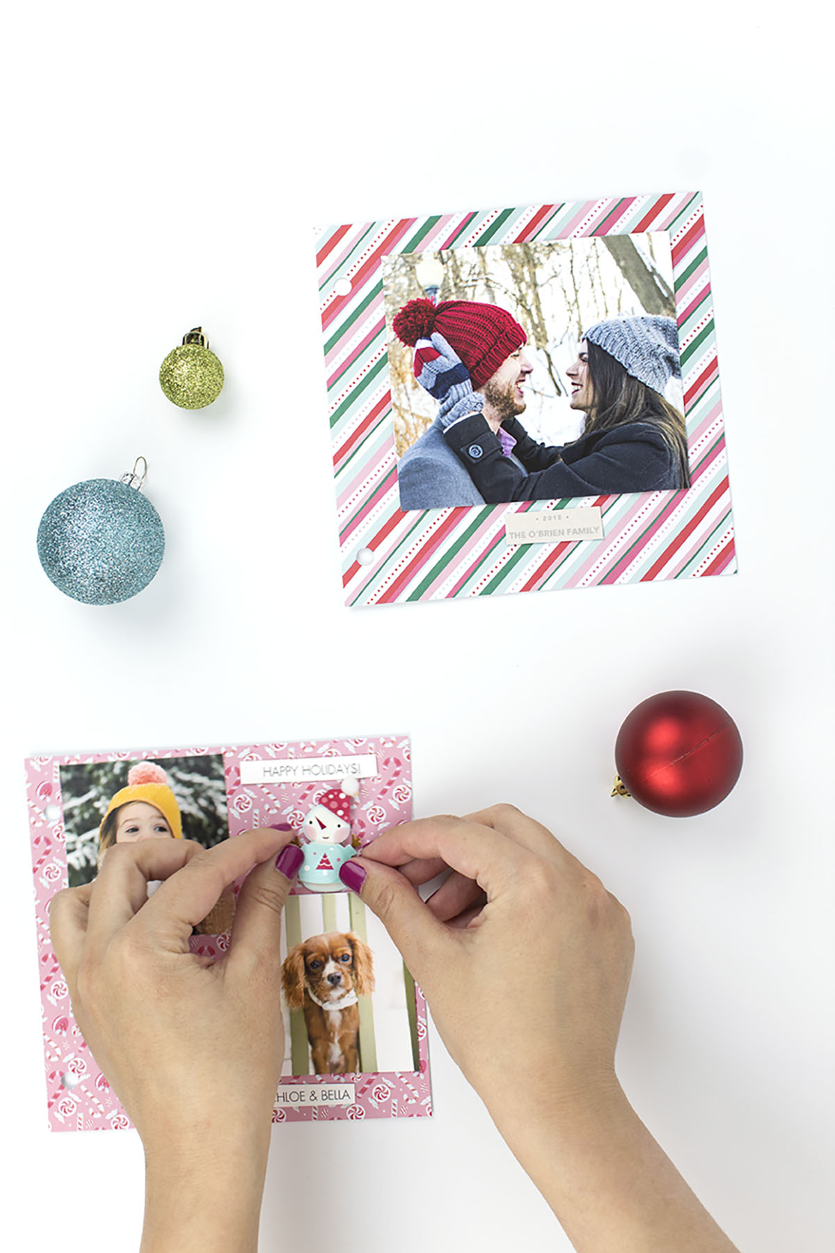 Holiday Card Scrapbook Names