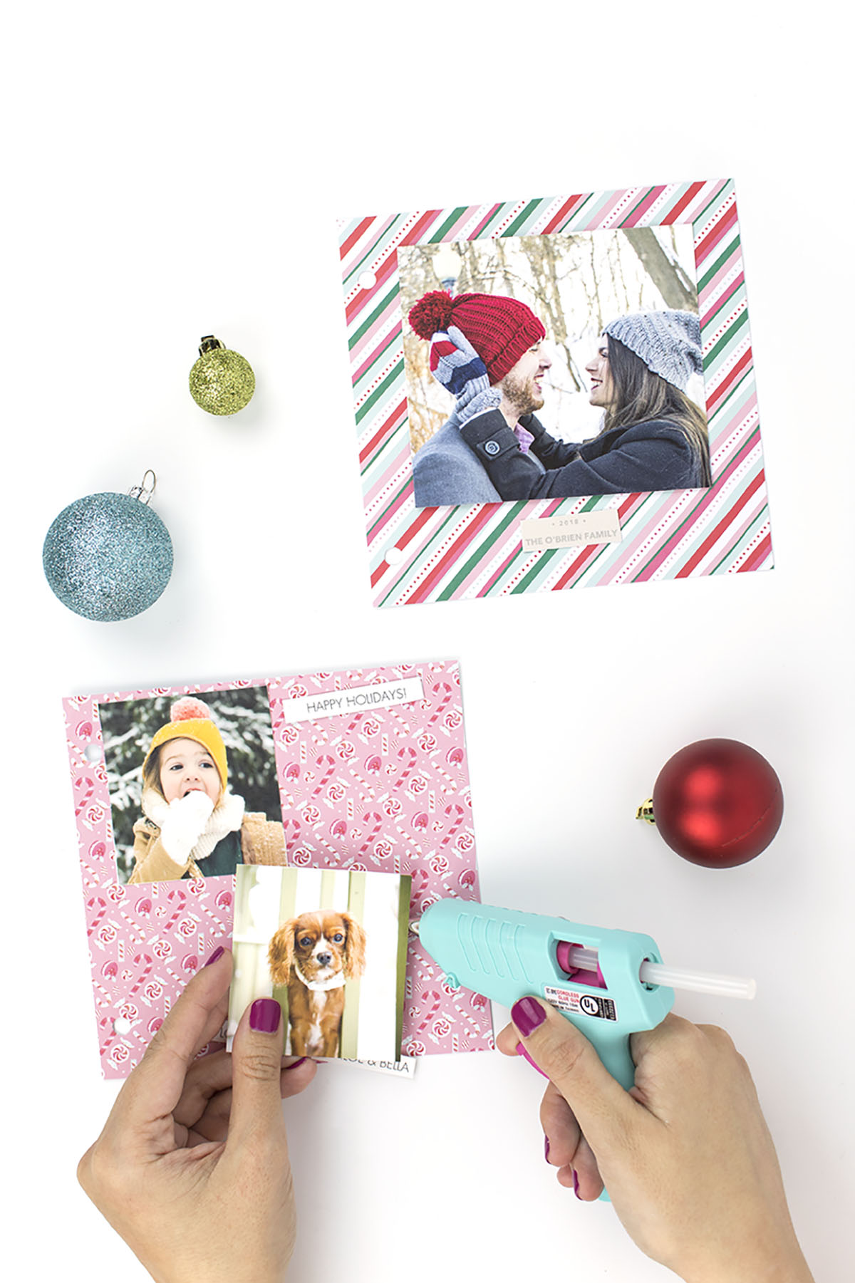 Holiday Card Scrapbook Glue