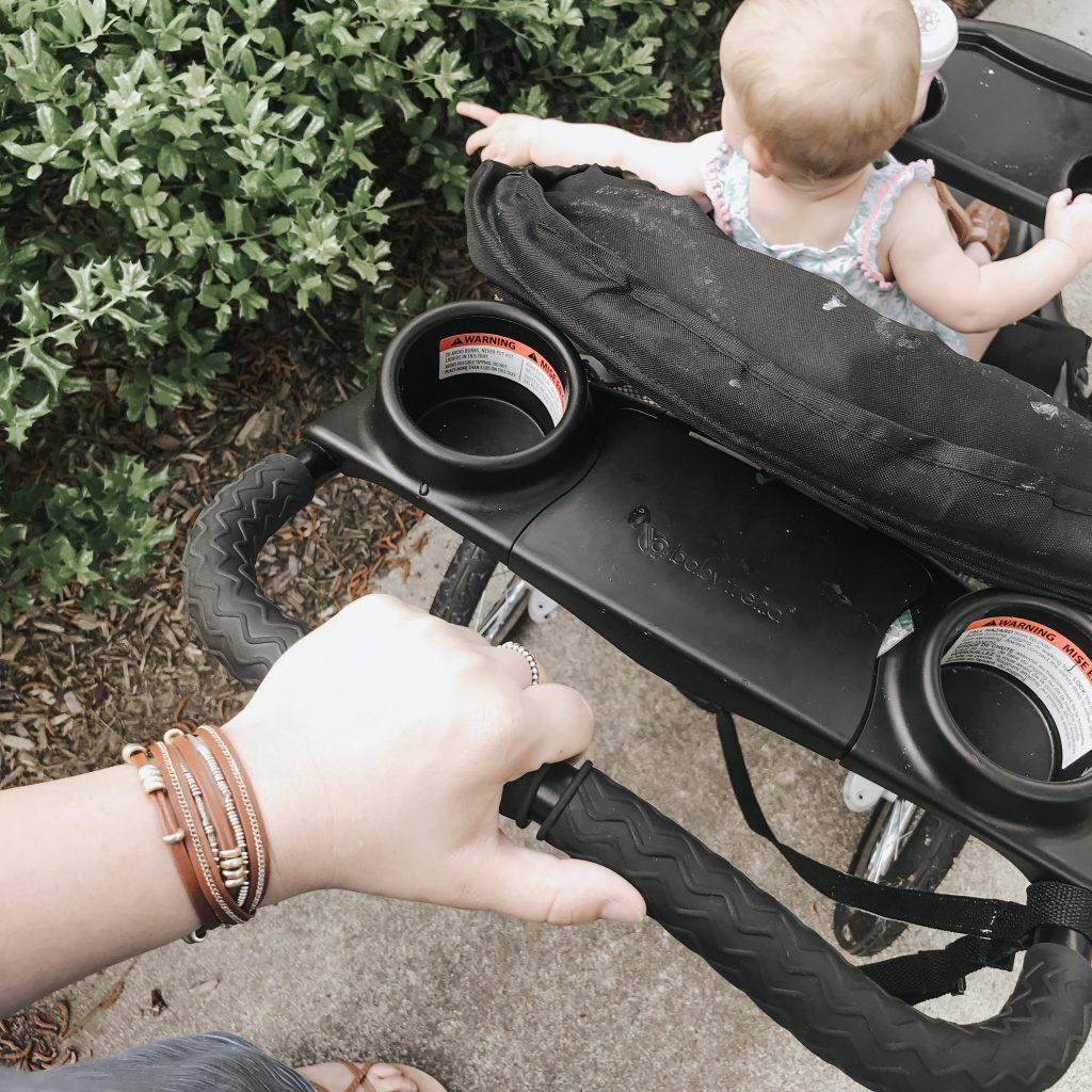 Mom-Walking-Baby-In-Stroller