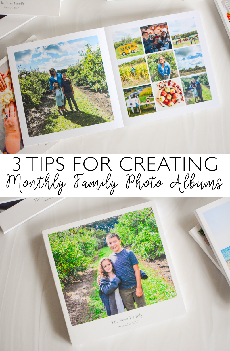3 Tips for Creating Monthly Family Photo Albums