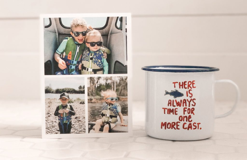 Custom Father's Day photo card featuring a collage of photos.
