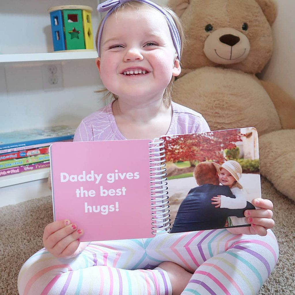 Daddy & Me Board book for Father's Day. Custom photo book by Pinhole Press