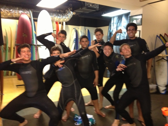 Prontos para o surf
