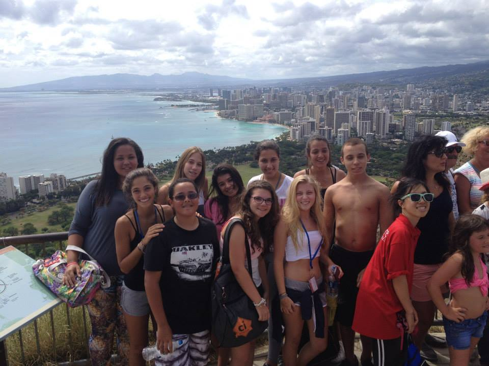 Group at the top of Diamond Head