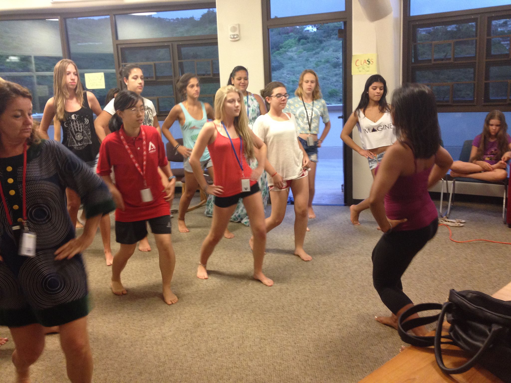 Hula dance class