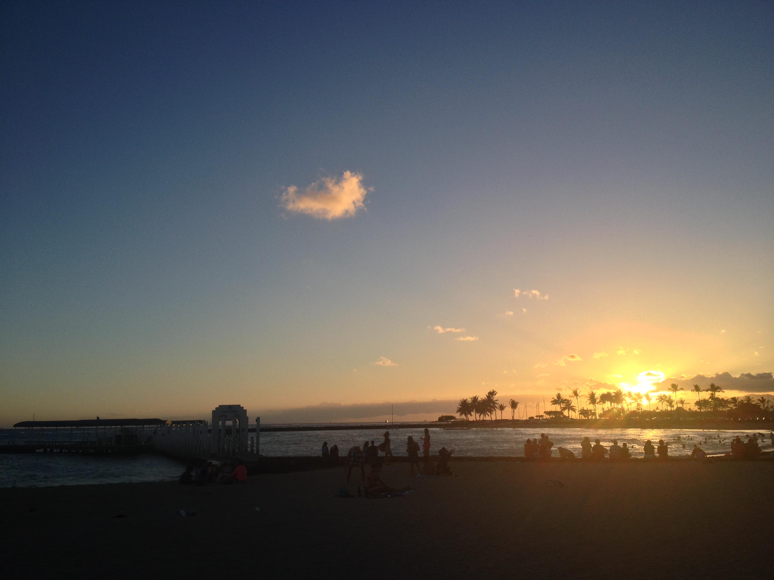 Last sunset in Waikiki