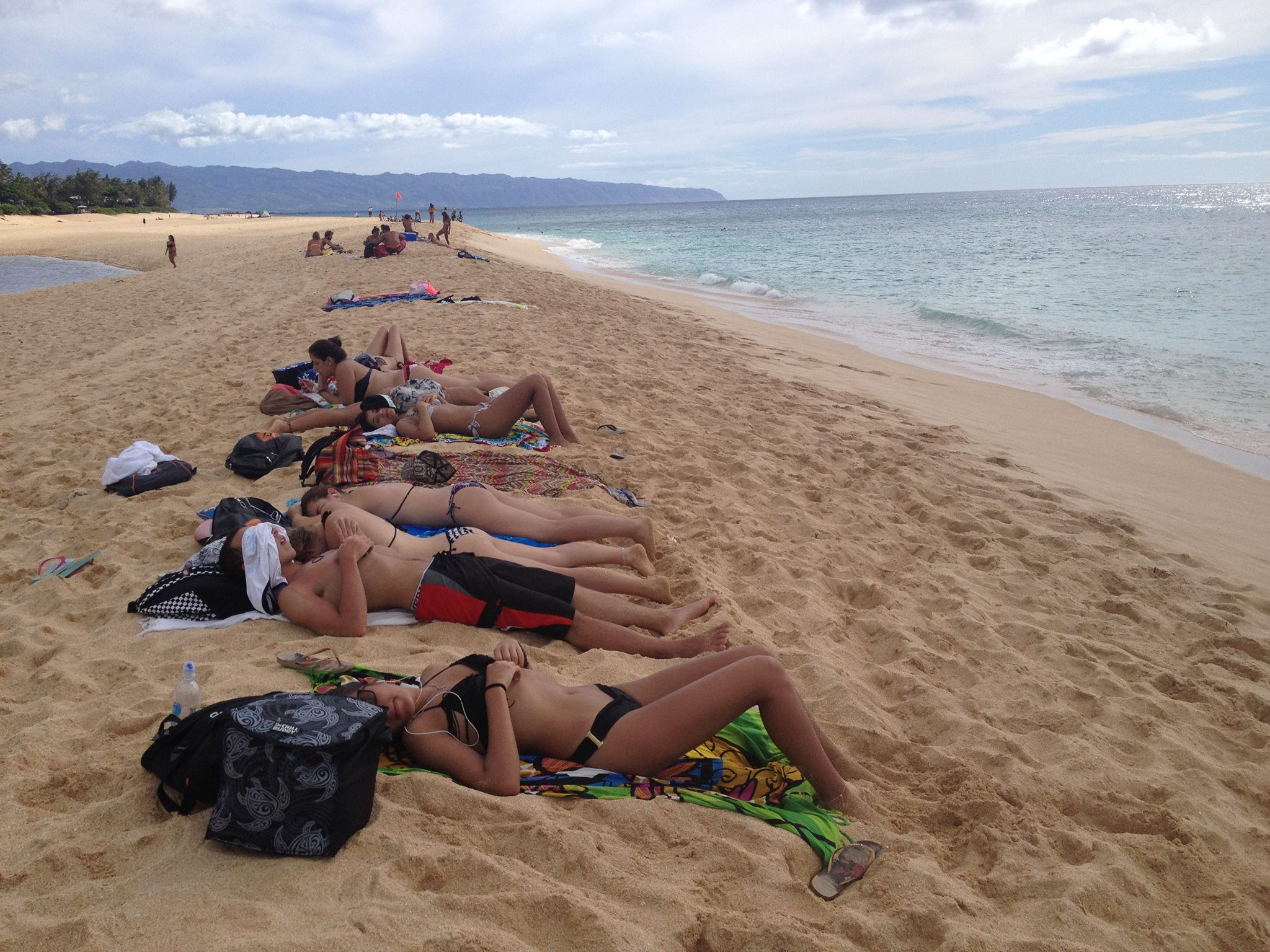 Relaxing at Pipeline