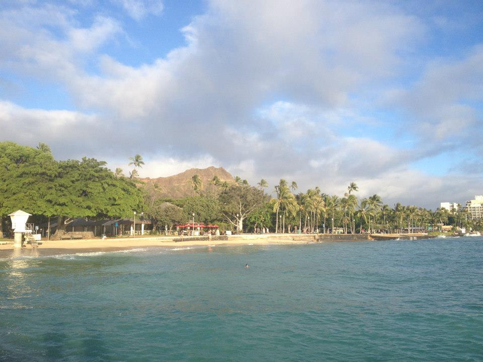 Waikiki to the left