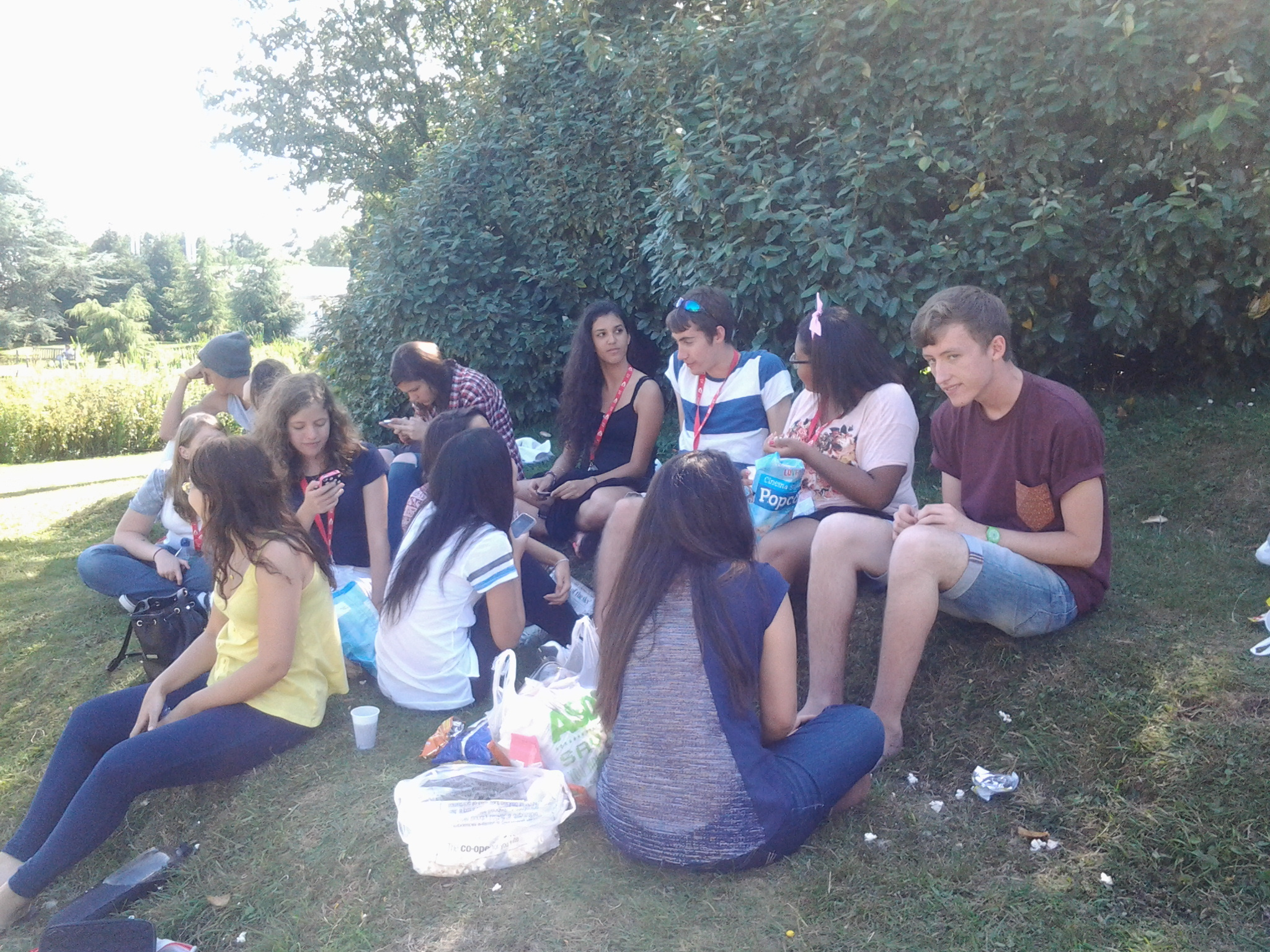 picnic no Lago do Campus