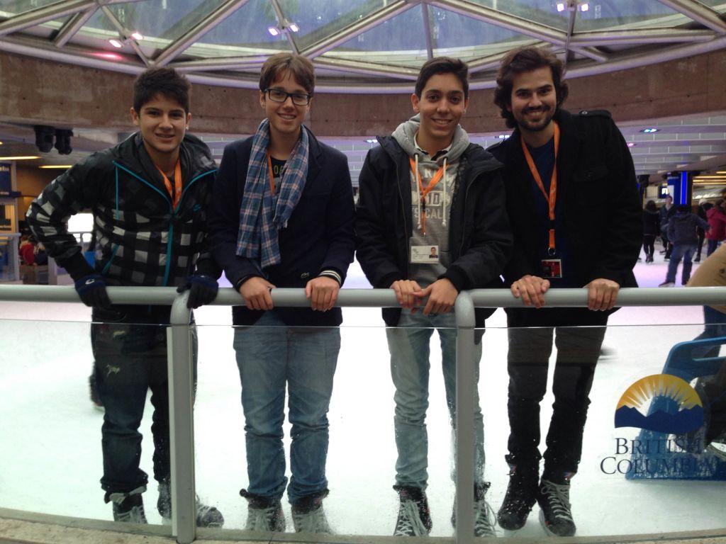 Julio, Adriano, Gabriel e Maycon
