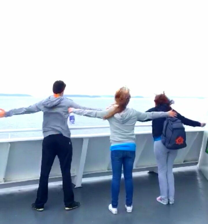 Ferry para Victoria, acho que estava com um pouco de vento... haha