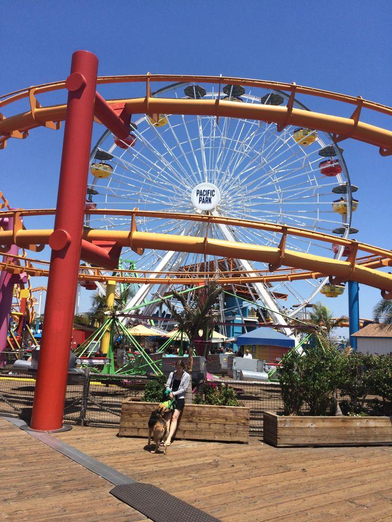 parque de diversões no pier de Sta Mônica