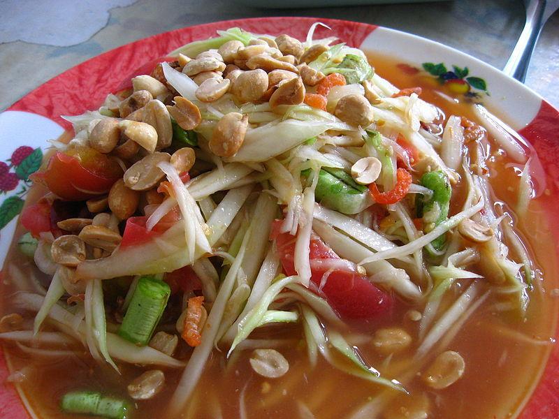 O Som Tam também é presença cativa nas mesas dos tailandeses e um dos pratos mais apreciados pelos turistas